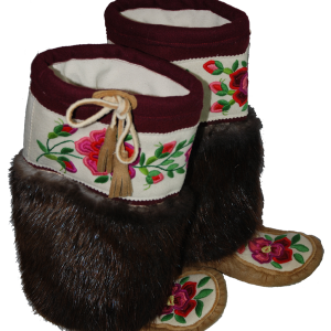 Flower Beaded Moosehide Mukluks