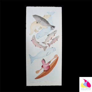 """Abundance of the Sea"" Inuit Print"