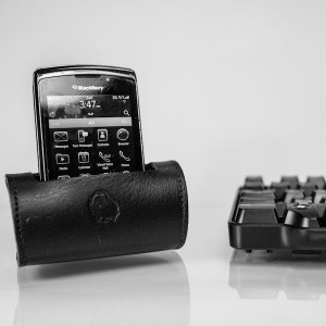 Muskox Leather Stand for iPhone and Blackberry