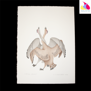 """Mating Cranes"" Inuit Print"