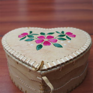 Large Heart Shaped Birch Basket