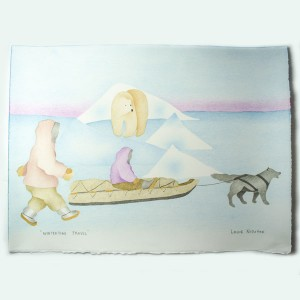 """Wintertime Travel"" Inuit Print"