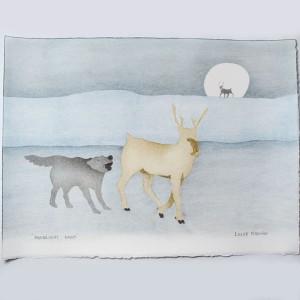 """Moonlight Hunt"" Inuit Print"