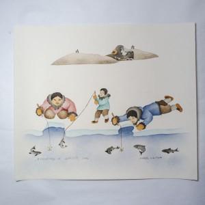 """""""Enjoying A Spring Day"""" Inuit Print"""
