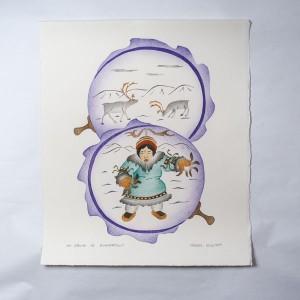 """""""My Drum Is Powerful"""" Inuit Print"""