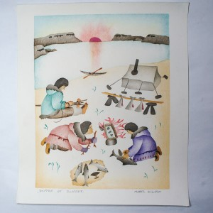 """Supper At Sunset"" Inuit Print"