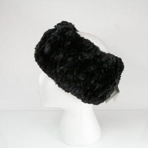 Classic Black Beaver Fur Headband