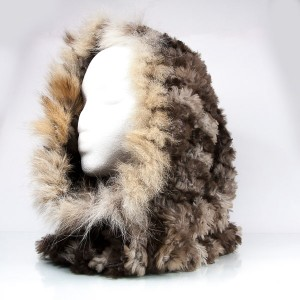 Luxuriously Soft Fur Cowl Infinity Scarf with Lynx