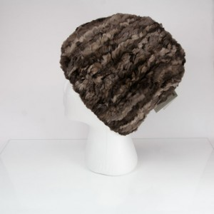 Sheared Knit Beaver Fur Hat &#8211; Natural