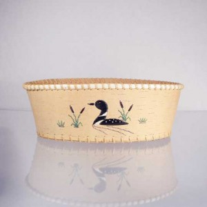 Oval Birch Bark Basket