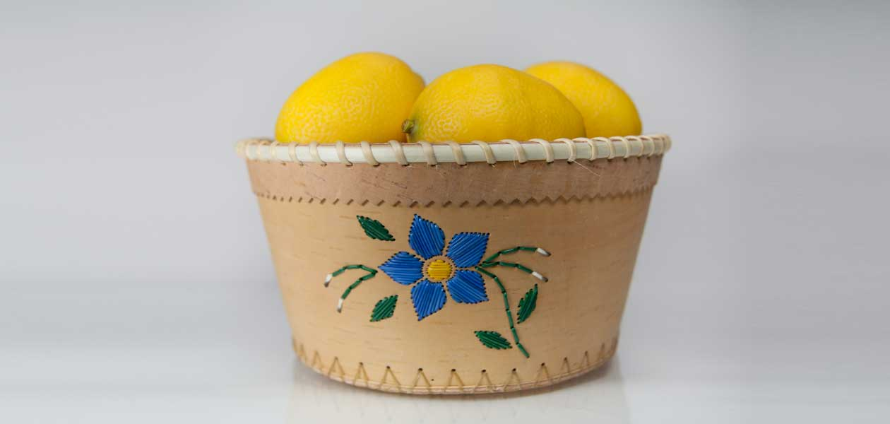 Birch bark baskets and crafts
