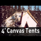 4 foot 10oz canvas wall tents