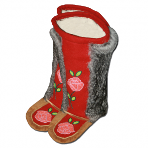 Adult Flower Mukluks