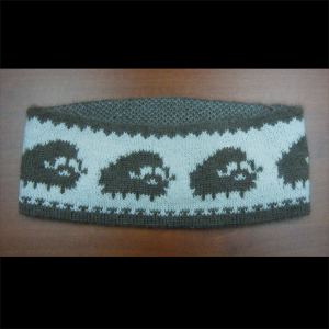 Brown and White Muskox Qiviut Headband