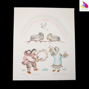 """Muskox Challenge"" Inuit Print"
