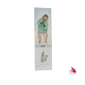 """""""A Fine Catch"""" Inuit Print Bookmark"""