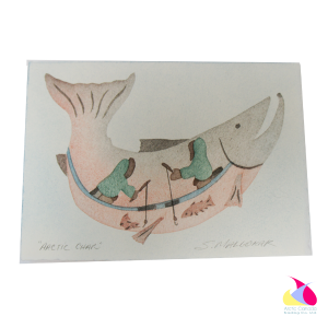 """Arctic Char"" Inuit Print Card"