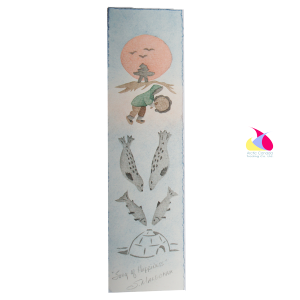 """Song of Happiness"" Inuit Print Bookmark"