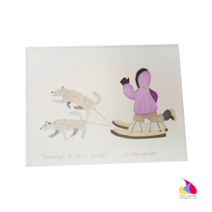 """Training to Pull Sleds"" Inuit Print Card"