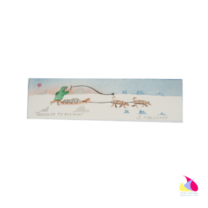 """Travelling by Dog Team"" Inuit Print Bookmark"