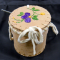 Purple Quilled Birch Bark Basket