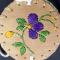 Purple Quilled Birch Basket Close Up View