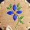 4 petal quill flower birch basket