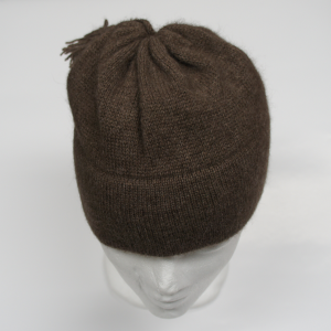 Solid Brown Muskox Qiviut Hat (Toque)