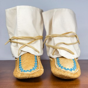 Handmade Wrap-Around Moccasins Adult Size 3