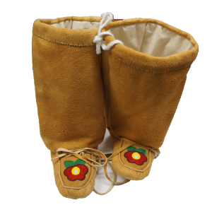 Moosehide Mukluks with Beaded Design