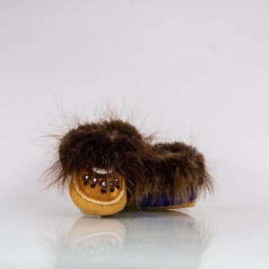 Infant Moccasins with Beaded Paw Design