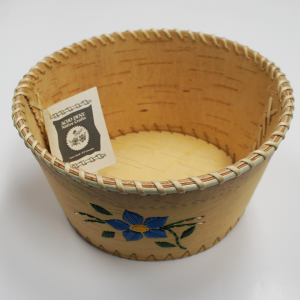 Birchbark Fruit Basket with Porcupine Quill Flower Design