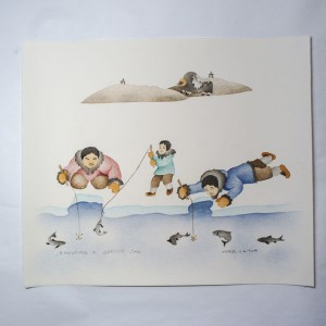 """Enjoying A Spring Day"" Inuit Print"