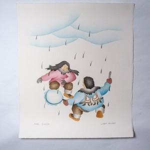 """Rain Dance"" Inuit Print"