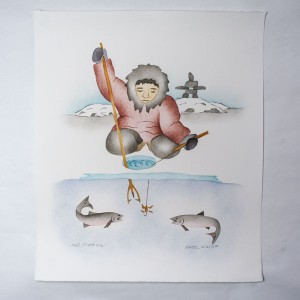 """Fall Fishing"" Inuit Print"