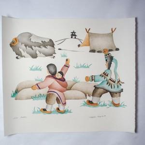 """Go Away"" Inuit Print"