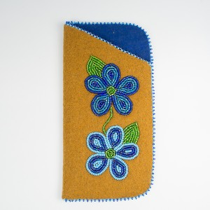Unique Glasses Case – Stroud with Blue Flowers