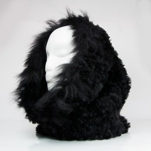Luxuriously Soft Fur Cowl Infinity Scarf With Fox