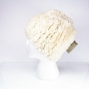 Sheared Knit Beaver Fur Hat – Ivory