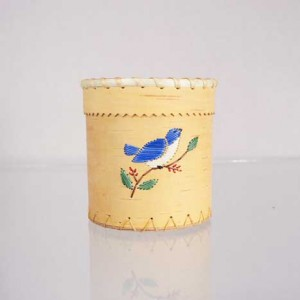 Birch Bark Basket Brush Holder – Blue Bird Quillwork