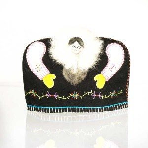 Inuit Tea Cozy – Black with Colourful Embroidery